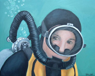 Royal Diver Art by Linda Falge